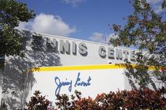 Muestra de Jimmy Evert Tennis Center Building Imagen de archivo libre de regalías