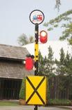 Muestra de la advertencia de la alarma del tren Foto de archivo libre de regalías