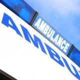 Muestra de la ambulancia Fotografía de archivo