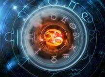 Muestra de la astrología del cáncer imagen de archivo