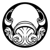 Muestra de la astrología del horóscopo del zodiaco del acuario Fotos de archivo libres de regalías