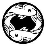 Muestra de la astrología del horóscopo del zodiaco de los pescados de Piscis Fotos de archivo