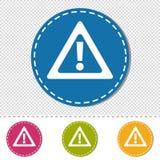 Muestra de la atención - iconos coloridos del ejemplo del vector - aislada en fondo transparente Foto de archivo libre de regalías