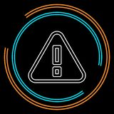 Muestra de la atención - símbolo de la alarma de la precaución - ejemplo de la marca de exclamación, icono de la atención ilustración del vector