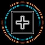Muestra de la atención sanitaria del vector - salud más - logotipo de la ayuda libre illustration