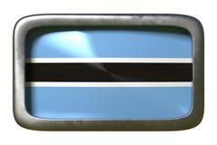 Muestra de la bandera de Botswana ilustración del vector