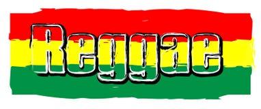 Muestra de la bandera del reggae imagen de archivo libre de regalías