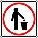 Muestra de la basura que lanza Foto de archivo