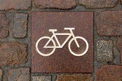 Muestra de la bicicleta Fotos de archivo libres de regalías