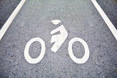 Muestra de la bicicleta en carril Imagenes de archivo