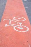 Muestra de la bicicleta en el camino Fotos de archivo