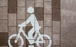 Muestra de la bicicleta en la tierra Fotos de archivo