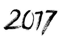 Muestra de la caligrafía 2017 del cepillo del vector aislada ilustración del vector