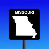 Muestra de la carretera de Missouri Fotografía de archivo