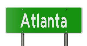 Muestra de la carretera para Atlanta ilustración del vector