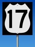 Muestra de la carretera para la ruta 17 Imagen de archivo libre de regalías