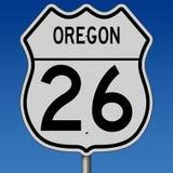 Muestra de la carretera para la ruta 26 de Oregon ilustración del vector