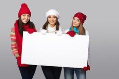 Muestra de la cartelera de las mujeres del invierno Imagenes de archivo