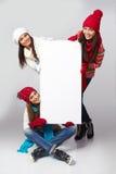 Muestra de la cartelera de las mujeres del invierno Imagen de archivo