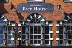 Muestra de la casa libre de la independiente Foto de archivo