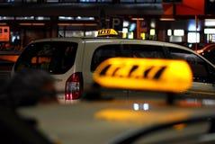 Muestra de la casilla de taxi imágenes de archivo libres de regalías