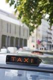 Muestra de la casilla de taxi Imagenes de archivo
