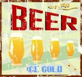 Muestra de la cerveza ilustración del vector