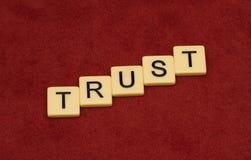 Muestra de la confianza Imágenes de archivo libres de regalías