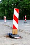 Muestra de la construcción de carreteras foto de archivo libre de regalías