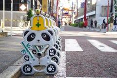 Muestra de la construcción de la panda en Yokohama Chinatown Foto de archivo libre de regalías