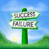 Muestra de la decisión del éxito o del fracaso Fotos de archivo