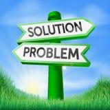 Muestra de la decisión del problema de la solución Foto de archivo