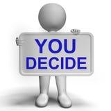 Muestra de la decisión que representa incertidumbre y que toma decisiones Imagenes de archivo