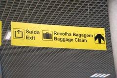 Muestra de la demanda de la salida y de bagaje Foto de archivo libre de regalías