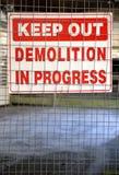 Muestra de la demolición Fotos de archivo