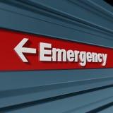 Muestra de la emergencia ilustración del vector