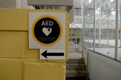 Muestra de la emergencia del AED Fotografía de archivo