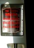 Muestra de la emergencia en el tren Imagenes de archivo