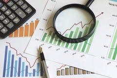 Muestra de la estadística del diagrama del negocio del ciervo del ¡de Ð Imágenes de archivo libres de regalías