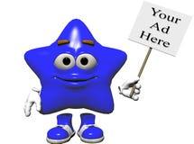 Muestra de la estrella Imágenes de archivo libres de regalías