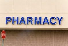 Muestra de la farmacia Fotografía de archivo