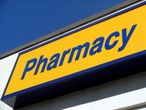 Muestra de la farmacia Fotos de archivo libres de regalías
