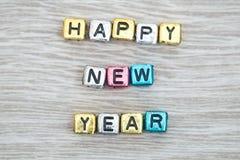 Muestra de la Feliz Año Nuevo Fotos de archivo libres de regalías