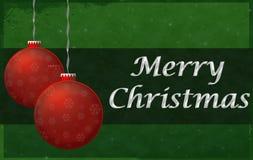 Muestra de la Feliz Navidad Imágenes de archivo libres de regalías