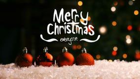 Muestra de la Feliz Navidad contra las chucherías y la nieve de la Navidad
