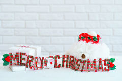 Muestra de la Feliz Navidad para la decoración interior Fotografía de archivo libre de regalías