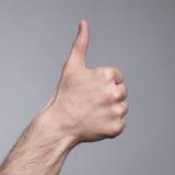 Muestra de la figura del thumb-up imágenes de archivo libres de regalías