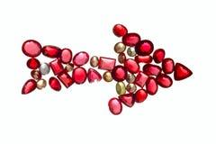 Muestra de la flecha de joyas coloridas. Foto de archivo libre de regalías