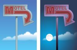 Muestra de la flecha del motel Fotos de archivo