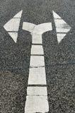 Muestra de la flecha, la derecha e ido Fotografía de archivo